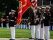 USMC flag ceremony