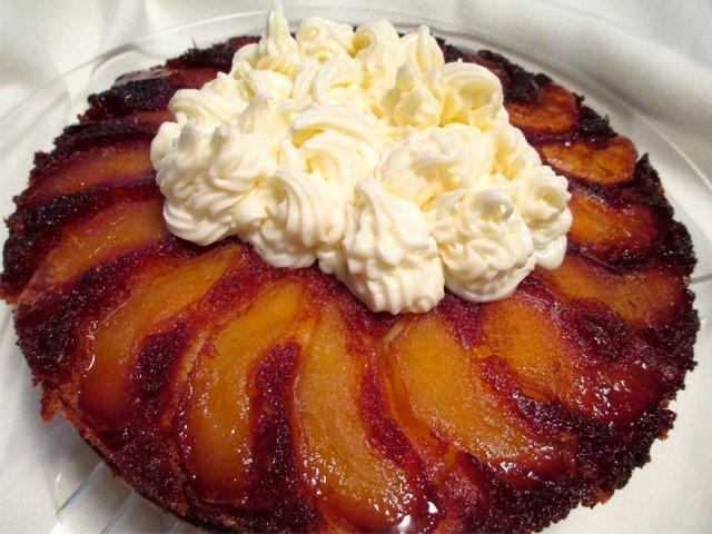 Carmelized apple tart