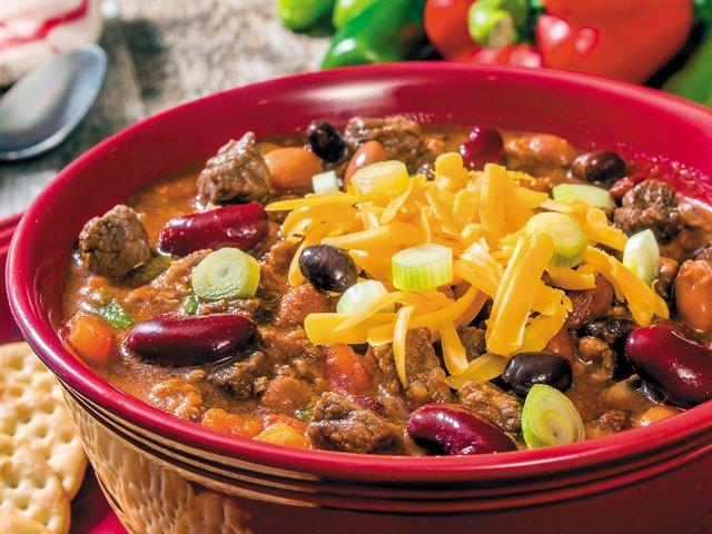 3-bean venison chili