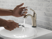Delta Lahara touchless bathroom faucet
