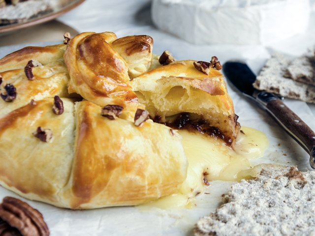 Nutty baked brie