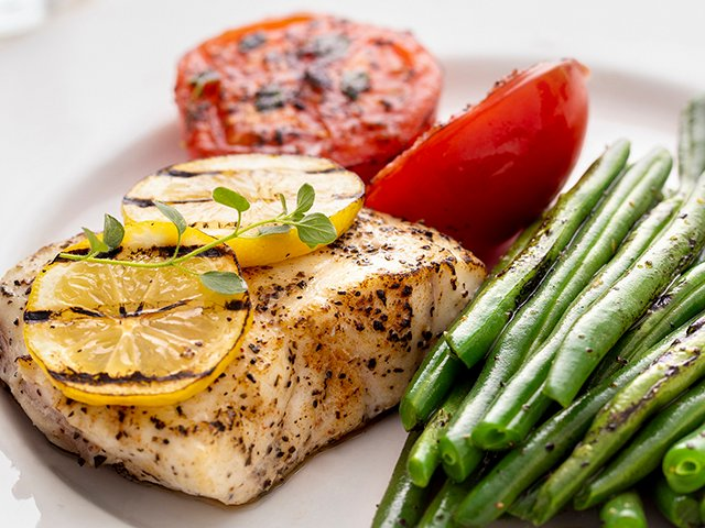 Grouper With Grilled Green Beans And Tomatoes Oregano Www Scliving Coop