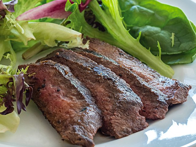 Steak Salad Close Up Horiz