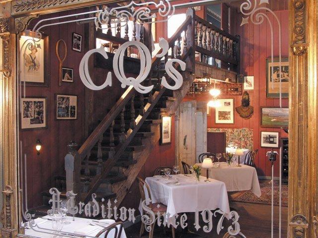 Inside CQ's restaurant