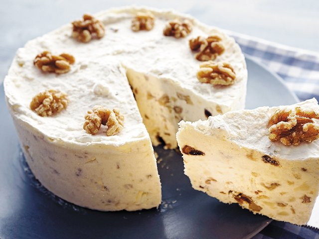Mary's maple walnut cream no-crust pie