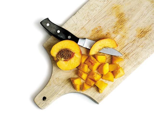 Four-layer peach delight