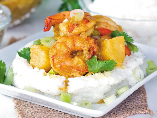 ... shrimp and grits with pineapple curry sauce - www.scliving.coop